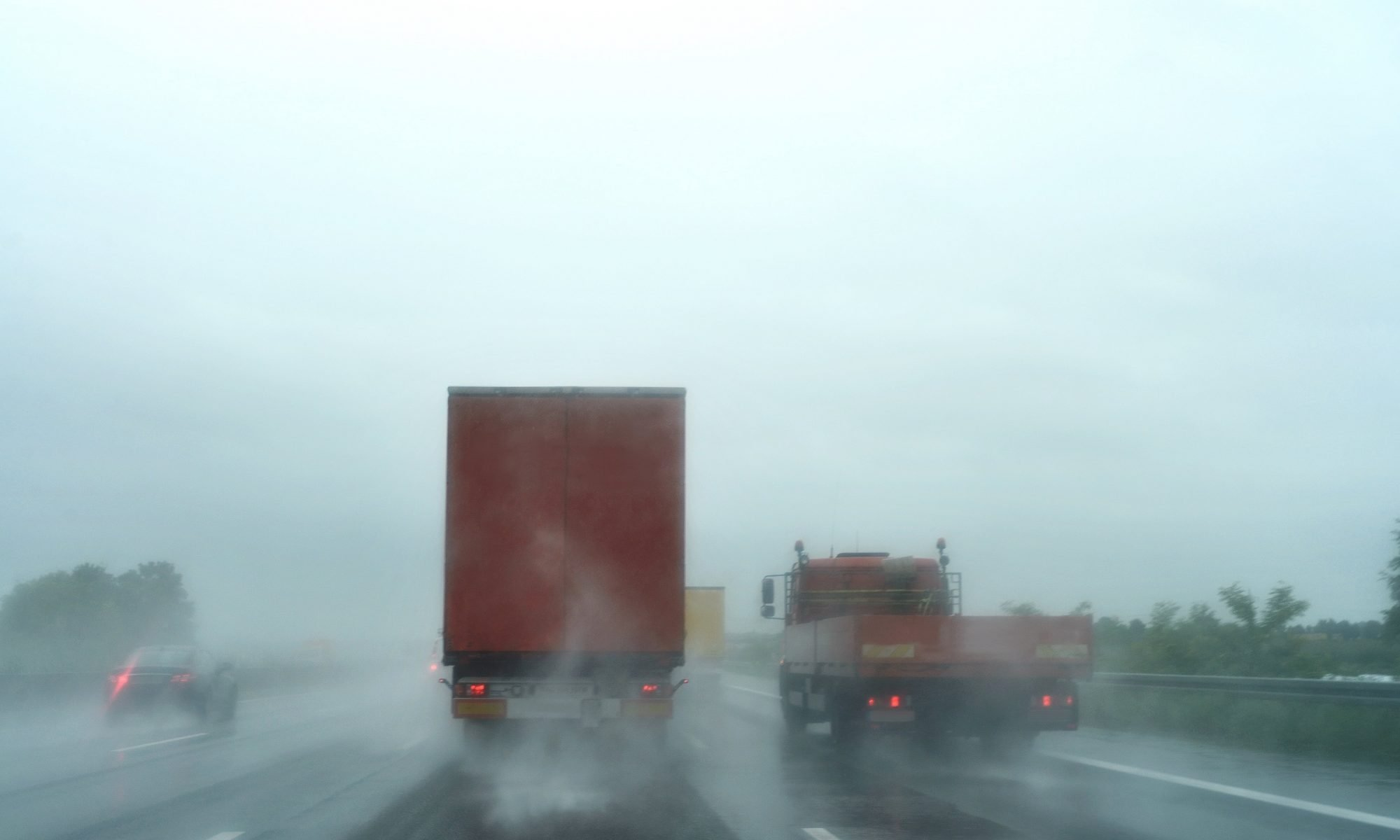 truck driving in adverse weather